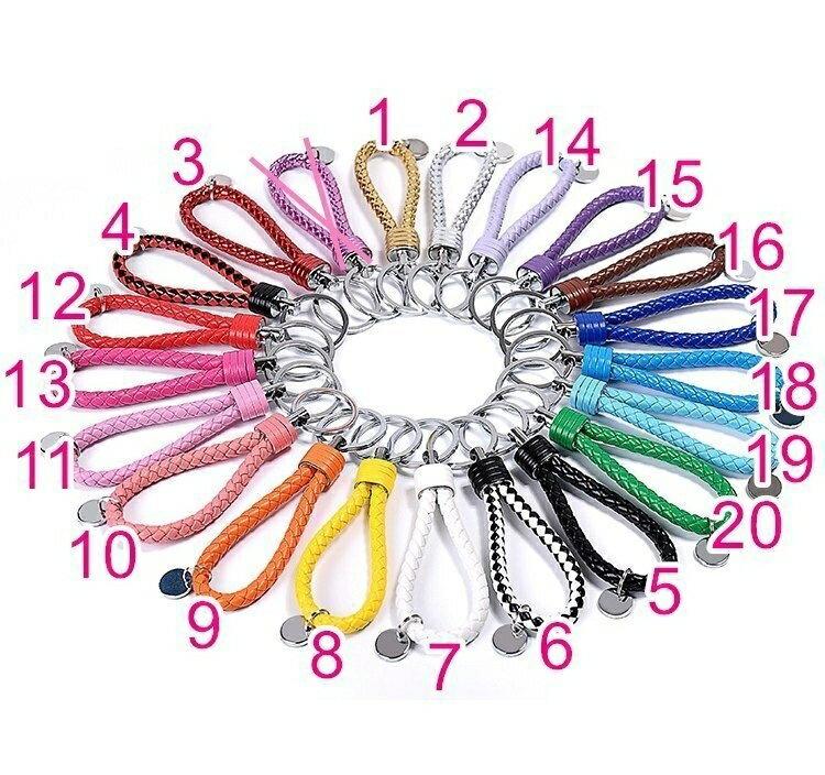 睿亮Relight 手工編織鑰匙扣 真皮鑰匙圈 20色 掛飾 包包/ 汽車鑰匙/ 機車鑰匙/ 家鑰匙 通用鑰匙圈 J-30