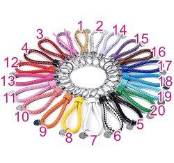 手工編織鑰匙扣 真皮鑰匙圈 20色 掛飾 包包/汽車鑰匙/機車鑰匙/家鑰匙 通用鑰匙圈 J-30
