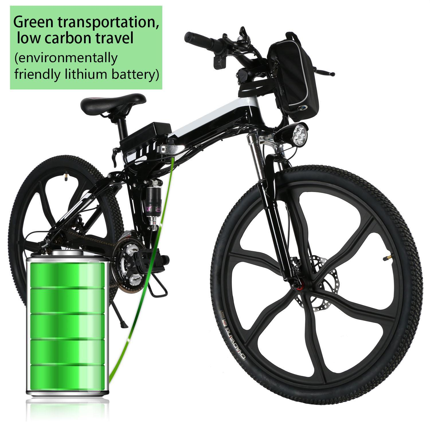 26inch 21 Speed Foldable Electric Power Mountain Bicycle Lithium-Ion Battery 0