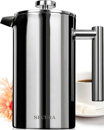 Secura Stainless Steel French Press Coffee Maker 18/10 Bonus Stainless Steel Screen (1000ML) 930511c703530e62d0976161d0c4042f