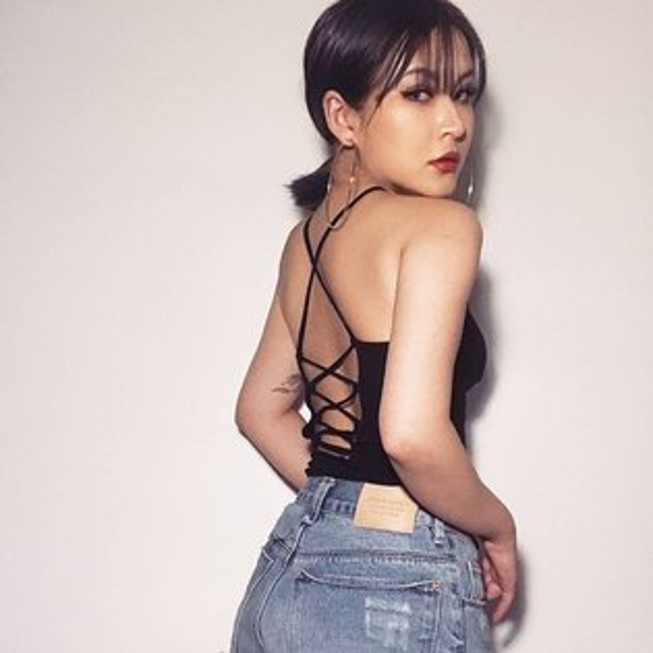 FINDSENSEG6韓國時尚氣質短款上衣交叉露背綁繩修身吊帶螺紋背心