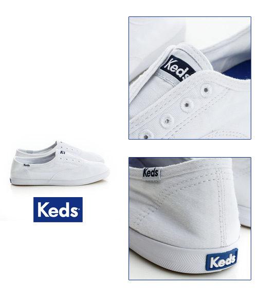 Keds 水洗樂活帆布鞋(白) 白鞋│套入式│懶人鞋│平底鞋 3