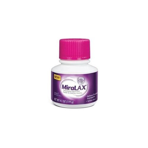 MiraLax Laxative, Polyethylene Glycol 3350, Powder for Solution, 4.1 oz.