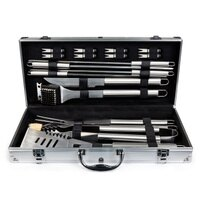 Best Choice Products BCP 19pc Stainless Steel BBQ Grill Tool Set With Aluminum Storage Case