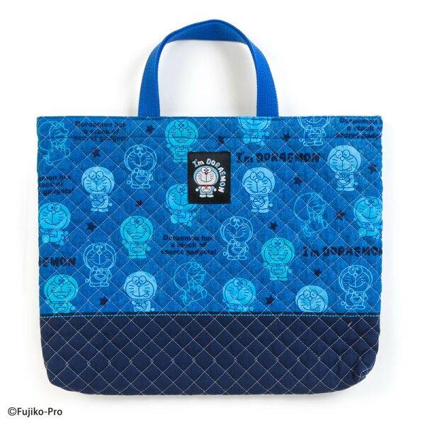 X射線【C686263】哆啦A夢Doraemon棉布提袋-藍,提袋提網兒童提包把手提袋手提包