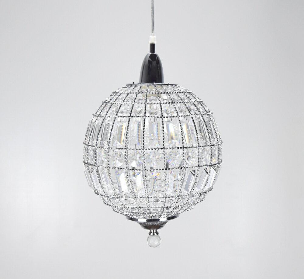 鍍鉻水晶圓形吊燈-BNL00104 0