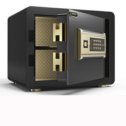 【618購物狂歡節】【新品促銷】保險箱25cm小型 保險櫃 密碼辦公櫃 防盜床頭櫃yh