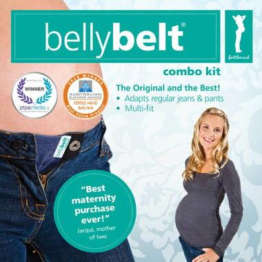 澳洲 Belly Belt Combo Kit 孕婦彈性褲帶/腹帶組合 讓懷孕的媽咪還能穿喜歡的褲子 *夏日微風*