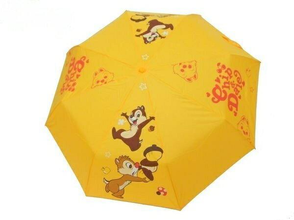 Disney 迪士尼 兒童傘/晴雨傘/手開傘/手開三折傘 花栗鼠兄弟 奇奇蒂蒂 *夏日微風*