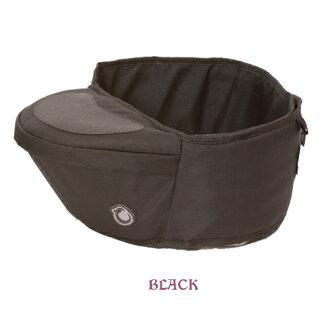 英國 Hippychick Hipseat 新款坐墊式抱嬰腰帶(有防滑軟座墊) 黑色*夏日微風*