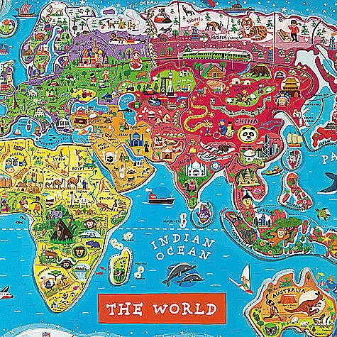 【領券現折100★折扣後$1590】法國 Janod 磁鐵世界地圖 木頭拼圖 *夏日微風*