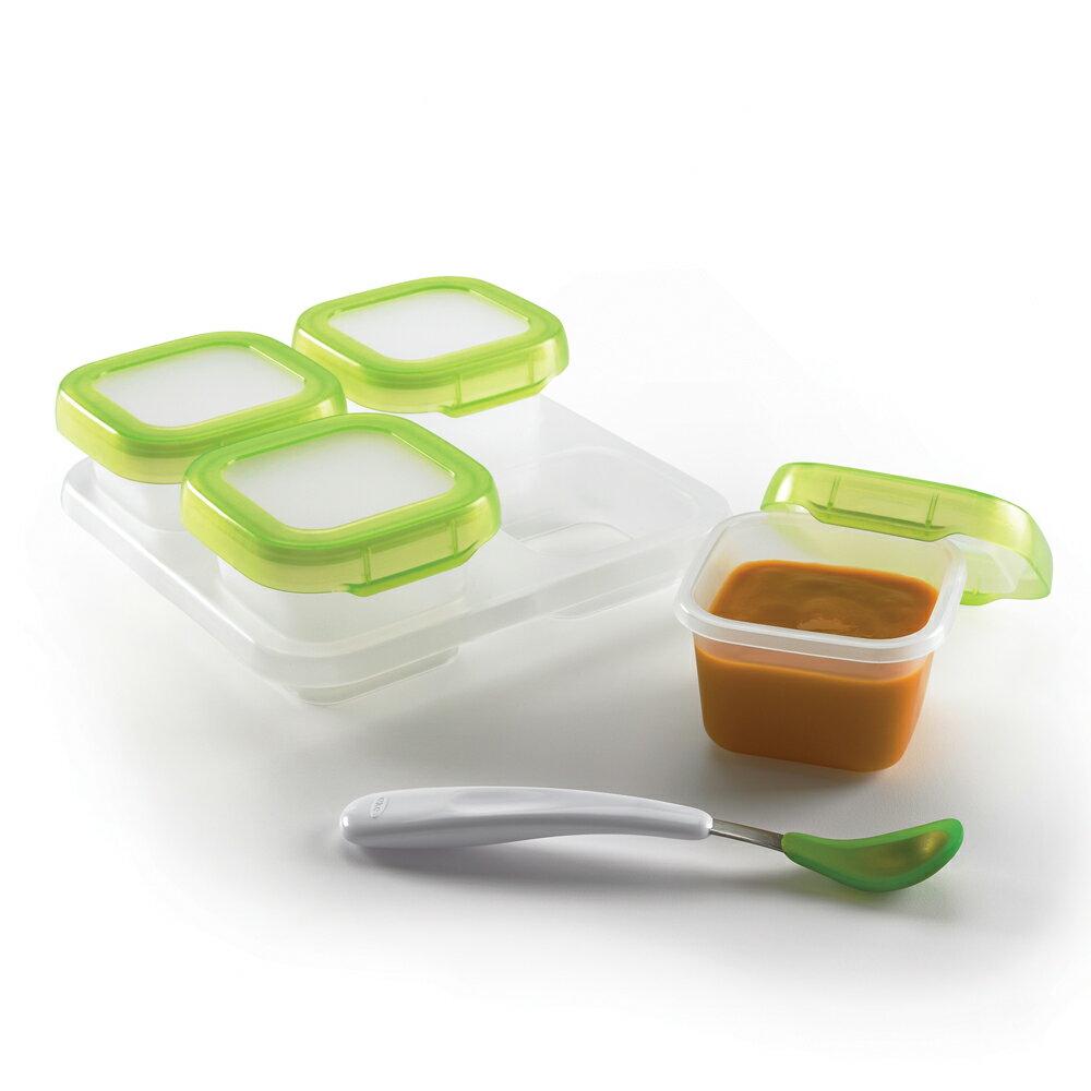 美國 OXO 嬰幼兒副食品保存保鮮盒 食物儲存格 120ml 4入/組 *夏日微風*