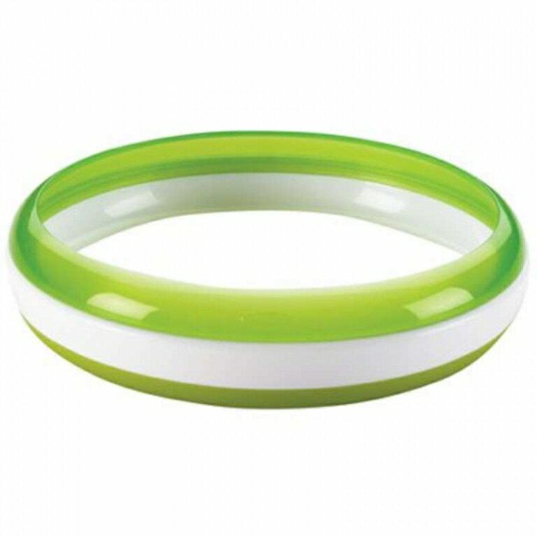 美國 OXO 幼兒餵食防滑餐盤 訓練碟(食物逃不出幼兒安全餐盤) 綠色 *夏日微風*