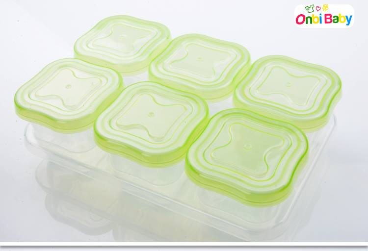 Onbi Baby 歐比寶貝 嬰幼兒副食品保存保鮮盒 副食儲存盒 60ml 6入/組 綠色 *夏日微風*