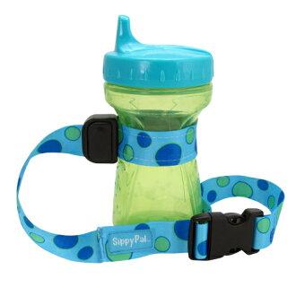 美國 pbnj baby SippyPal 多功能防掉落萬用帶/玩具綁帶/水壺防掉帶 藍色點點 *夏日微風*