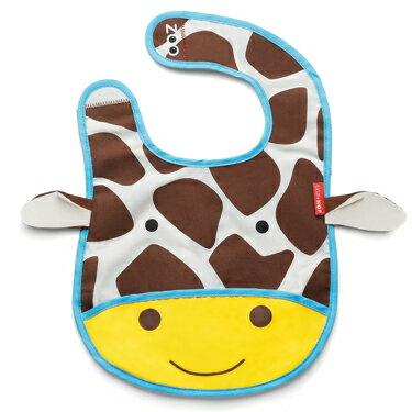 美國 SKIP HOP Zoo Bib 寶寶動物圍兜 長頸鹿 原廠正品 *夏日微風*