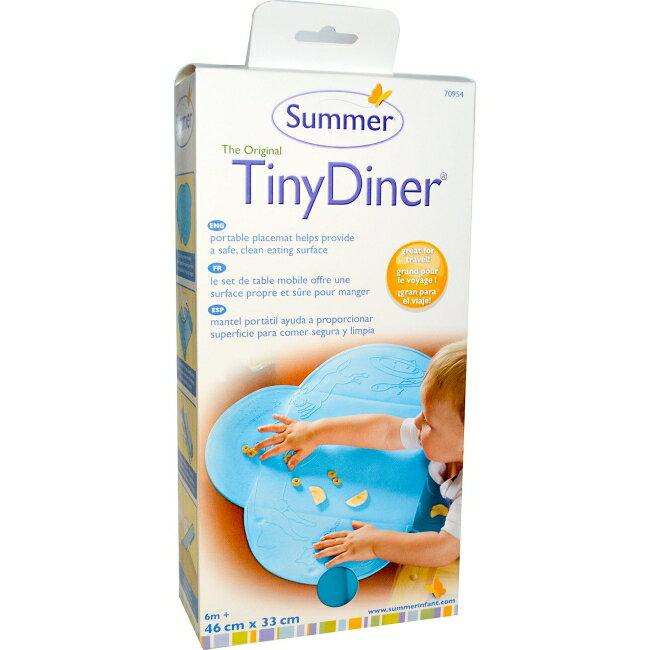 美國 Summer Infant 防水學習餐墊 藍色 食物不再掉滿地*夏日微風*