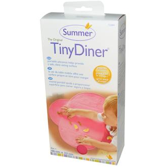 美國 Summer Infant 防水學習餐墊 粉紅 大口袋食物不再掉滿地 *夏日微風*