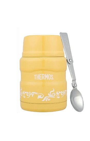 THERMOS 膳魔師 sk3000 不銹鋼真空保溫食物罐(燜燒罐) 檸檬歐蕾(黃色) 470ml *夏日微風*