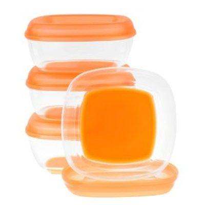 英國 Vital baby 副食品儲存盒 冷凍盒 食物保鮮盒 無塑化劑 3oz 4入裝*夏日微風*