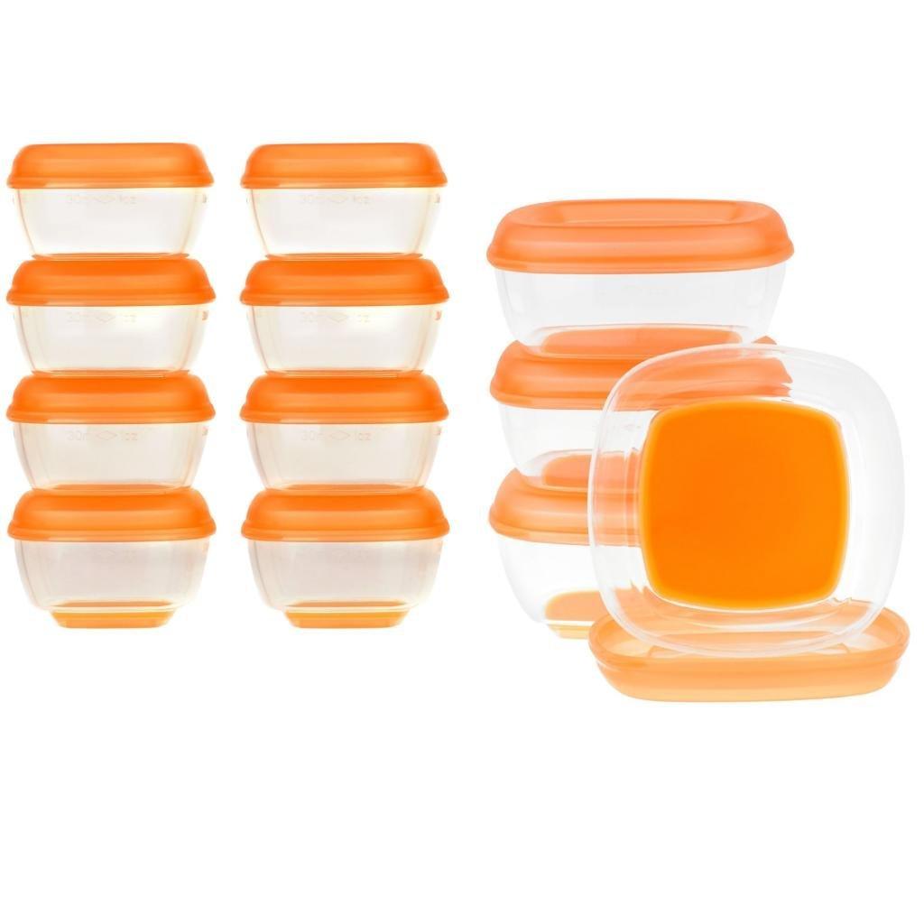 英國 Vital baby 副食品儲存盒 冷凍盒 食物保鮮盒 無塑化劑 1oz 8入裝 *夏日微風*