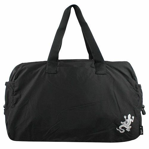 日本帶回 agnes b.輕量手提肩背蜥蜴旅行袋(大) 黑色 附原廠紙袋 *夏日微風*