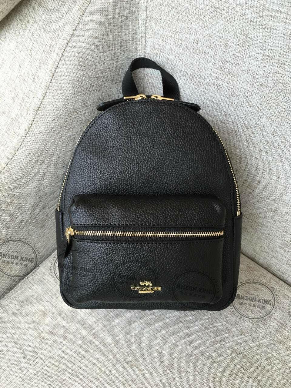 美國Outlet代購 Coach 全新正品 F38263 Backpack純色迷你後背包 黑色 雙肩包 書包 多色可選