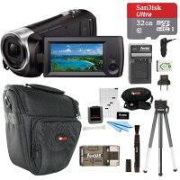 Deals on Sony CX405 Handycam 1080p Camcorder w/32GB Card Bundle