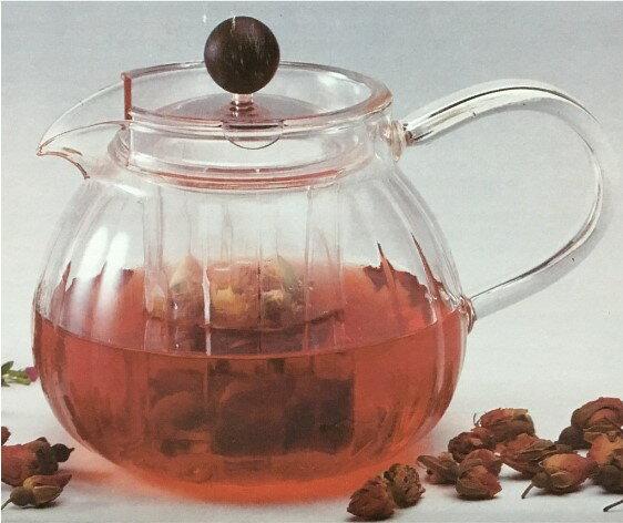 【亞美YAMA】500cc 玻璃花茶壺 H-02 水果茶壺 茶葉壺 廚房餐具