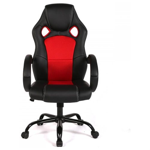 High Back Racing Car Style Bucket Seat Office/Gaming Chair   Red 2