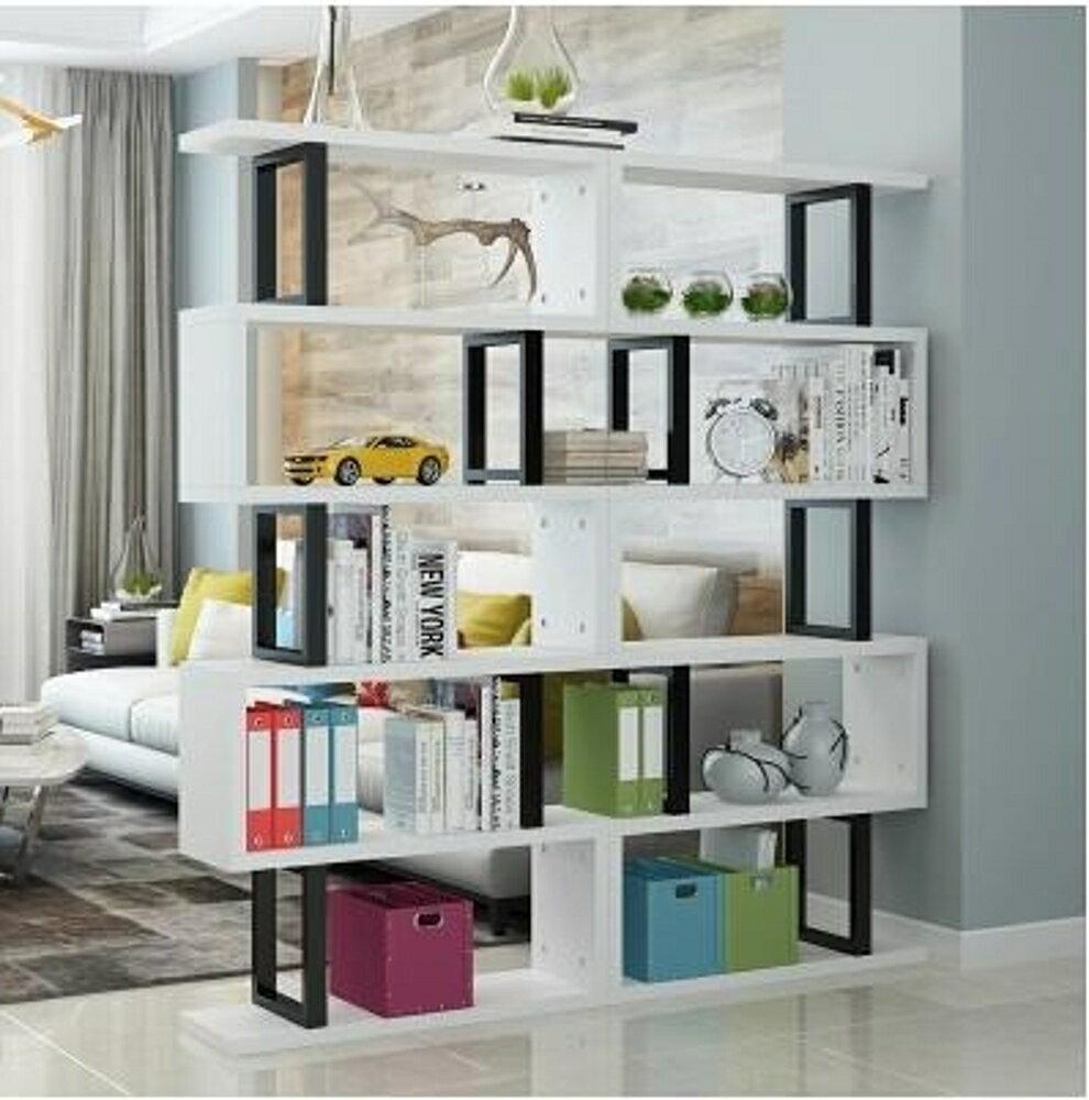 書櫃 簡約現代書架簡易書櫃辦公置物架落地客廳展示架隔斷櫃書房儲物架  MKS  瑪麗蘇