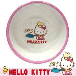【真愛日本】12021500005 平底碗-與動物 三麗鷗 Hello Kitty 凱蒂貓 餐碗 餐具 塑膠碗