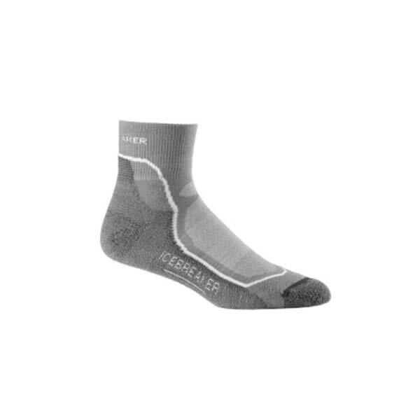《台南悠活運動家》Icebreaker 男  短筒薄毛圈健行襪 IB100327-014 灰