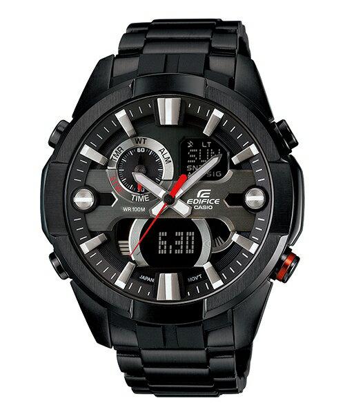 CASIO EDIFICE ERA-201BK-1A炫黑賽車魂溫度感應時尚腕錶/黑面47mm