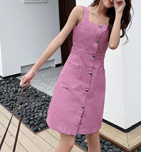 粉色牛仔小短裙 #424