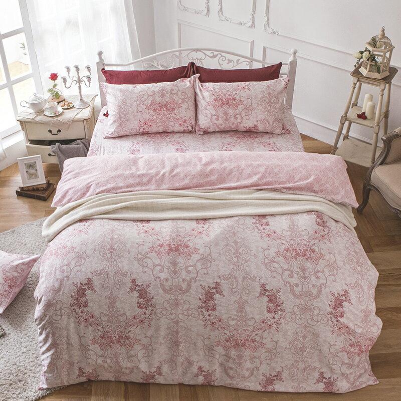 床包被套組  /  雙人加大-100%精梳棉【靜影愛戀】60支精梳棉 含兩件枕套 戀家小舖 台灣製 3