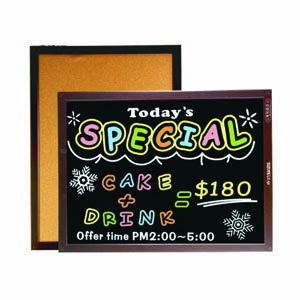 成功雙面木框軟木鏡面黑板(彩繪板)(中)#015210/ 45X60CM