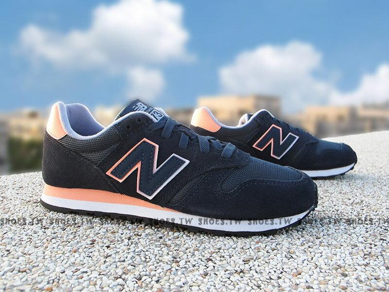 Shoestw【WL373GN】NEW BALANCE NB373 復古慢跑鞋 深藍橘 麂皮 女生