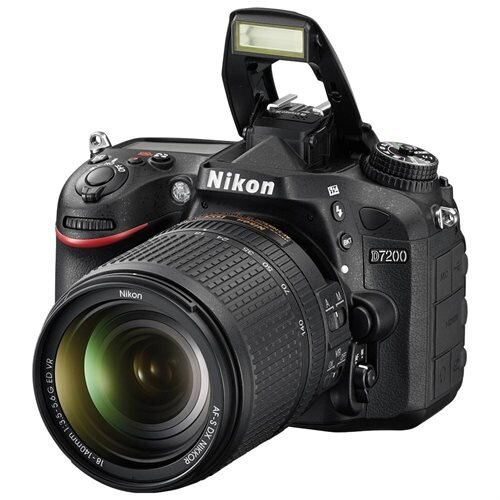 "Nikon D7200 24.2 Megapixel Digital SLR Camera Body Only - Black - 3.2"" LCD - 16:9 - i-TTL - 6000 x 4000 Image - 1920 x 1080 Video - HDMI - PictBridge - HD Movie Mode - Wireless LAN 3"
