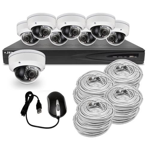 Best Vision Systems 8CH 2TB IP NVR Security Surveillance System with (8)  2MP PoE Outdoor Vandalproof Dome Cameras – Hikvision OEM