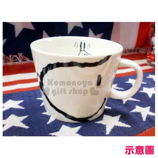 小禮堂 Snoopy 史努比 日製陶瓷湯杯《白.大臉.400ml》日本大西賢精緻陶瓷