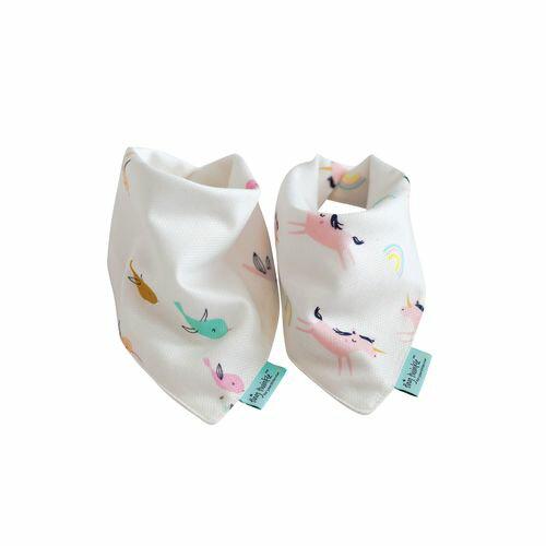 TinyTwinkleDroolBibs口水巾2入組(小鳥獨角獸)TT-1110★衛立兒生活館★