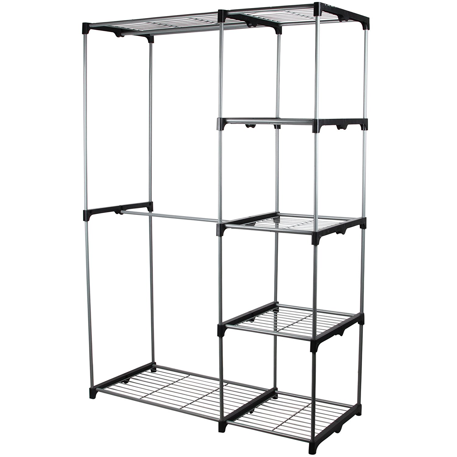 Superbe Double Rod Portable Clothes Storage Rack Freestanding Closet Wardrobe With  Steel And Plastic Frame CL68 0