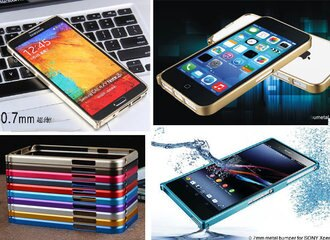 創美[A033]超薄 0.7 鋁合金 金屬 邊框 iPhone 5c S5 三星 Note 2 3 保護殼 手機殼