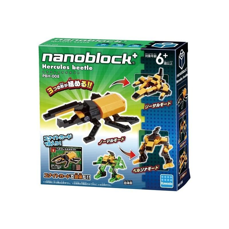 【Nanoblock+ 迷你積木】PBH-008 長戟大兜蟲