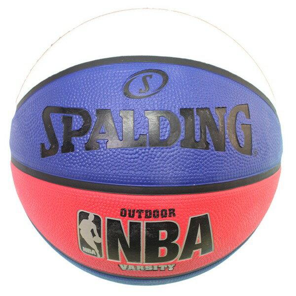 SPALDING斯伯丁7號三色籃球(白藍紅)SPA83275一個入{特590}Varsity系列斯伯丁籃球NBA籃球~群