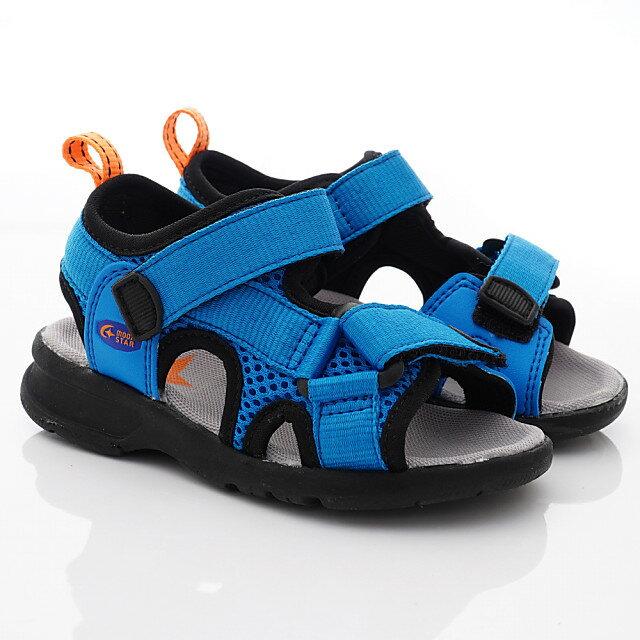 日本月星Moonstar機能童鞋運動涼鞋系列鞋款004C5藍(中小童段) 618購物節