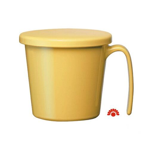 【銀元氣屋】銀髮族專用 日本進口 輕巧大握把帶蓋馬克杯 三色可選