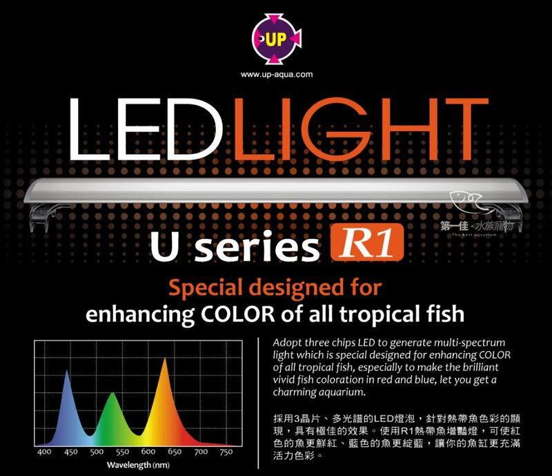 [第一佳 水族寵物] 台灣雅柏UP [2尺 紅白燈 熱帶魚增艷] U系列 LED 超薄跨燈 (60cm)免運
