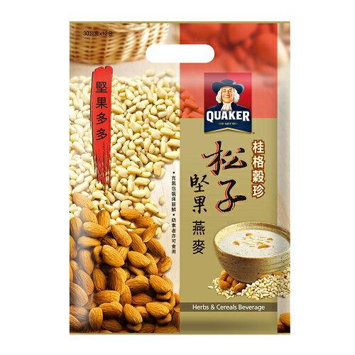 桂格穀珍堅果多多-松子堅果燕麥30g*12入/袋【愛買】